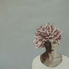 Pippa Young, Random Encounter oil on paper 50 x 50cm