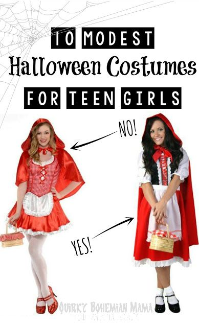 Quirky Bohemian Mama: 10 Modest Versions of Popular Teen Girl Halloween Costumes