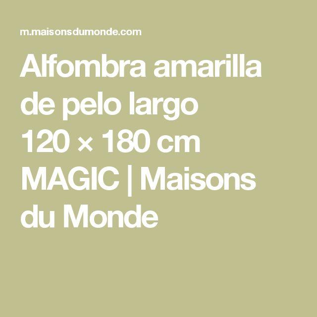 Alfombra amarilla de pelo largo 120×180cm MAGIC | Maisons du Monde