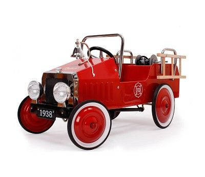 Tråbil med pedaler, Brannbil Rød