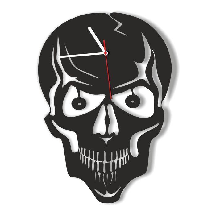 Dekoracyjny zegar ścienny Urlik Design Czaszka ◾ ◾ PrezentBox