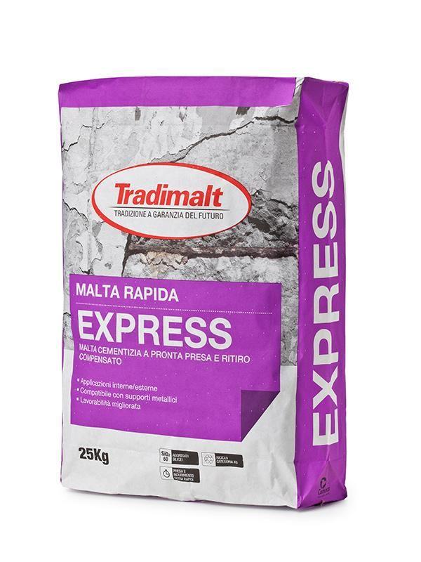 Prodotti Malte generiche EXPRESS - Intonaco isolante malte intonaci edilizia premiscelati cementizi - Tradimalt SpA