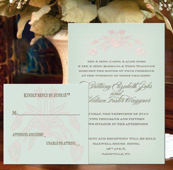 reply to wedding invitation m%0A Elegant mint green wedding invitations with digital designed embellishment  via Etsy