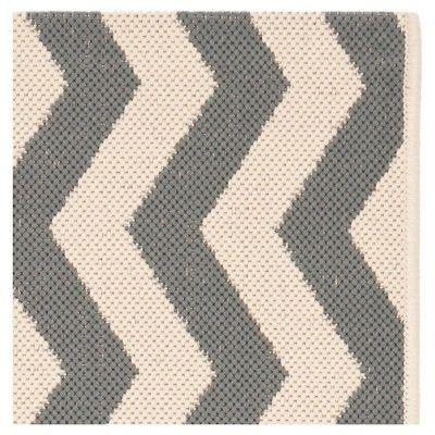 Wels Square 4' X 4' Outdoor Patio Rug - Gray / Beige - Safavieh, Gray/Beige