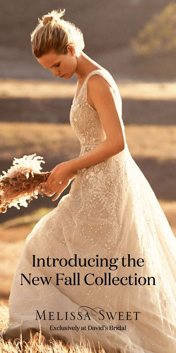 Brand new Melissa Sweet designer wedding dresses have arrived at David's Bridal. Come find the one for you!