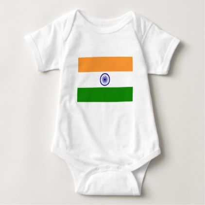 """Good color Indian flag """"Tiranga"""" Baby Bodysuit - good gifts special unique customize style"""