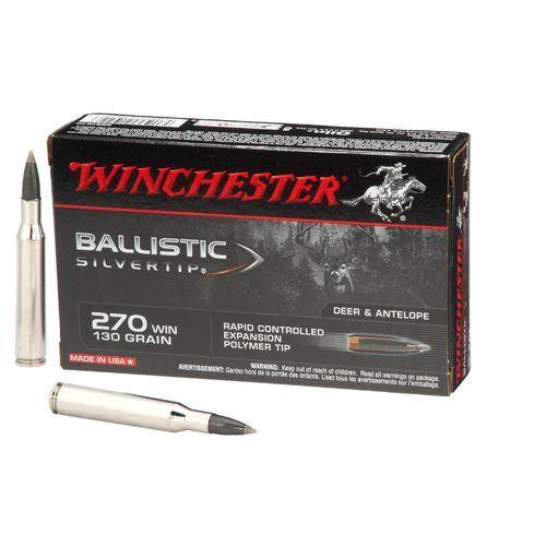 Winchester Supreme® Ballistic Silvertip® .270 Winchester 130-Grain Rifle Ammunition