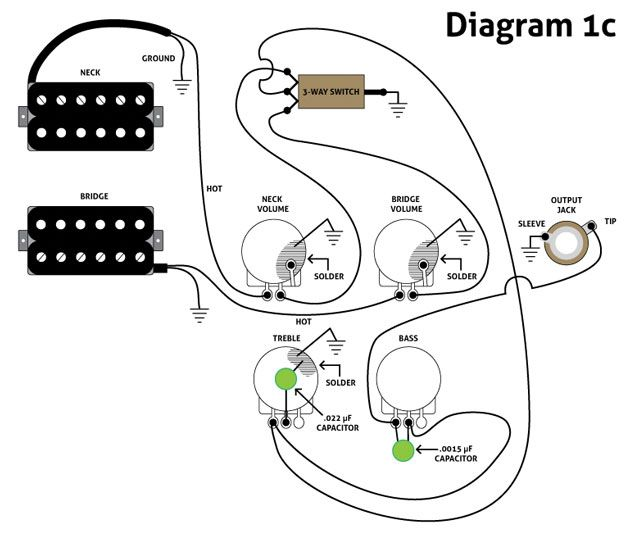 wiring diagram telecaster neck humbucker