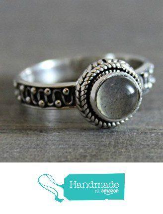 5mm Round Cabochon Labradorite Sterling Silver Ring, size 9 from Sophia Rose Jewellery https://www.amazon.com/dp/B01M1N7DQE/ref=hnd_sw_r_pi_dp_RCJ.xbP26FJ1X #handmadeatamazon