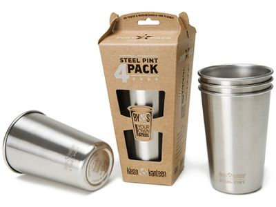 (3) Primary Drinking Glass [Stainless Steel Pint] - $120