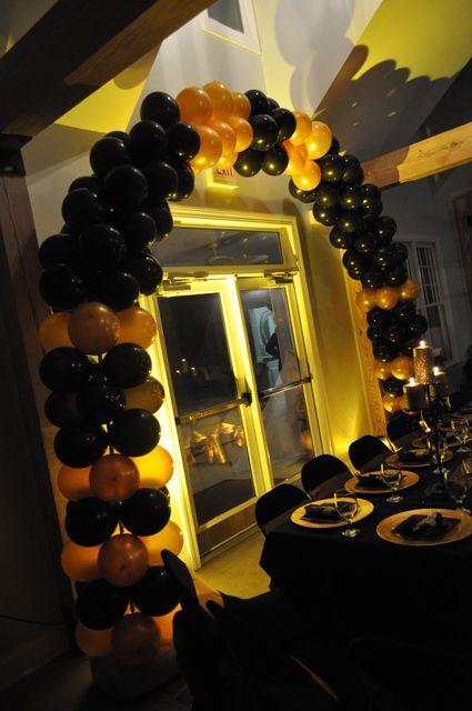 Irene Black & Gold Hollywood Birthday Party