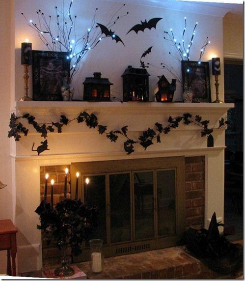 PB inspired Halloween Mantel
