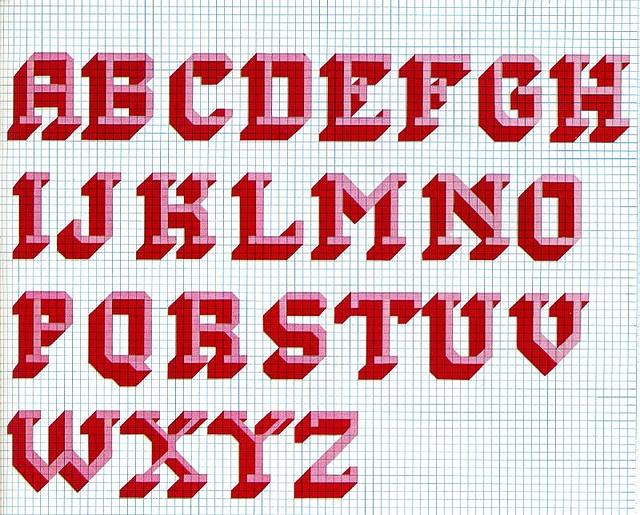 Funky 70s Cross Stitch Alphabet by superminx, via Flickr
