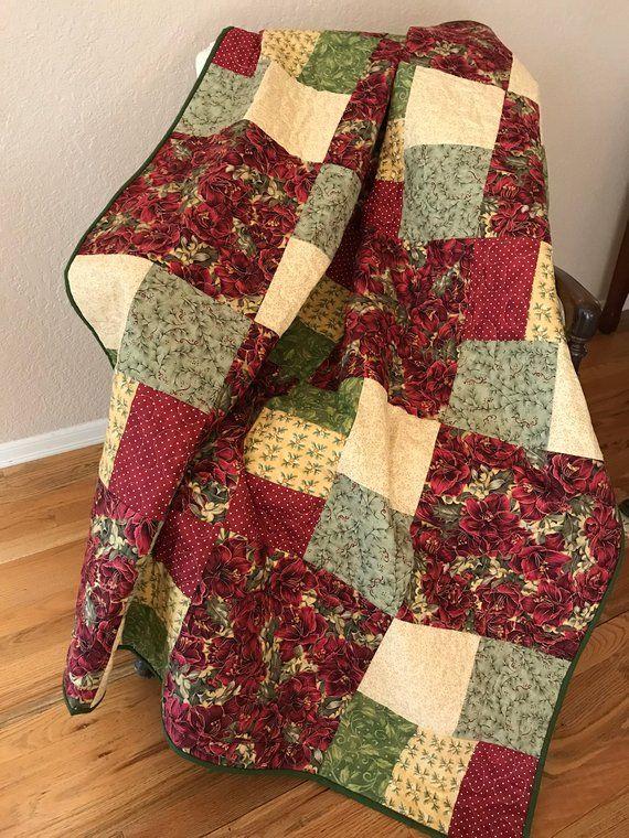 Holiday Fl Christmas Sofa Throw