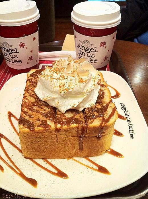 Seoul cafes: Angel-in-us Coffee & caramel bread (Gongdeok)