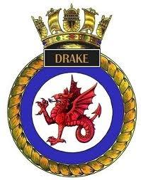 Crest of HMS Drake