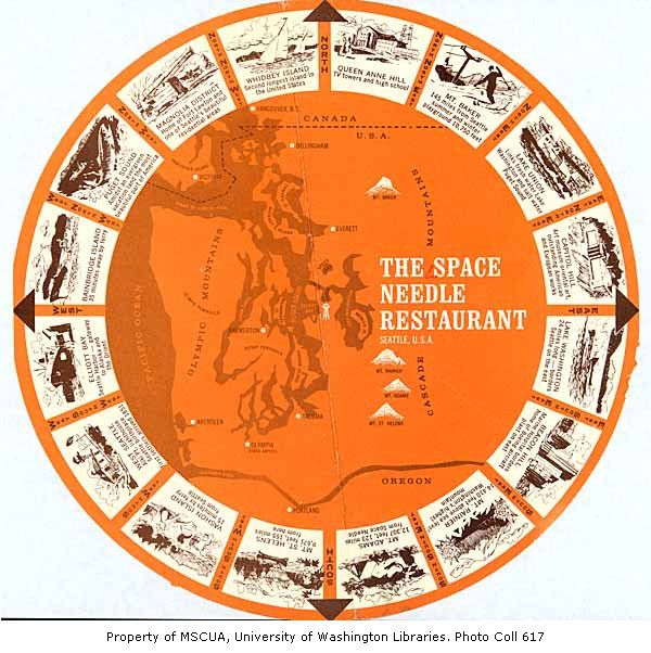 Space Needle Restaurant Menu  ca  196251 best Space Needle images on Pinterest   Washington state  . Dinner Seattle Space Needle. Home Design Ideas
