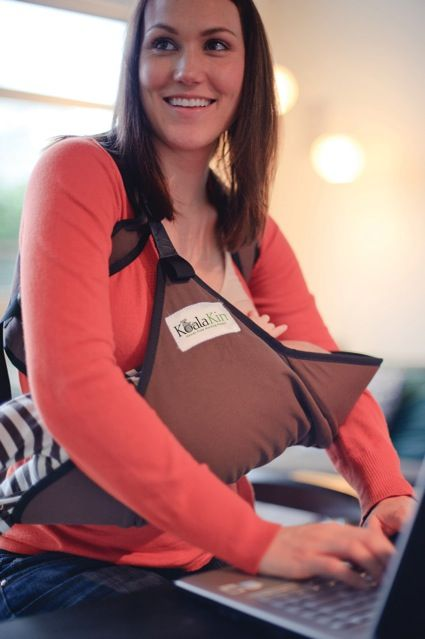 The Koalakin Hands Free Nursing Pouch.  It holds baby in the correct nursing position letting mums breastfeed hands free!