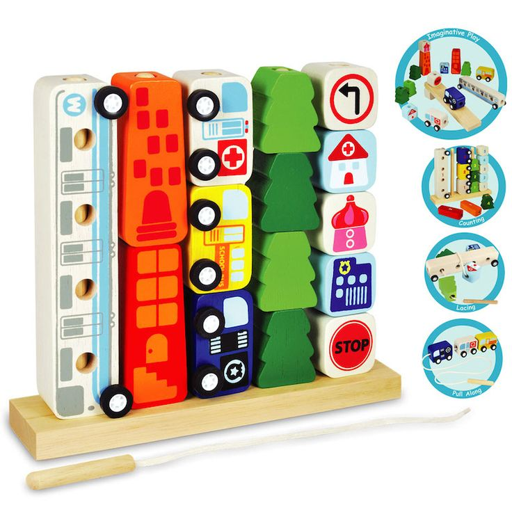 Fun, educational and guaranteed to entertain!  Sort and Count City by Byron Bay based designer toy maker Artiwood!  The amazing sort and count city, will help develop childrens' mental skills. The toy features lacing, sorting and counting functions - vehicles can also be used separately!  #childrenstoys #woodentoys #kidstoys #educationaltoys #christmasgifts #learn #play #create #designerkids #designerbaby #toyshop #artiwood #sorter #littlebooteek