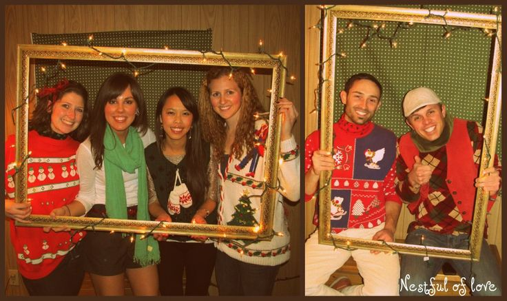 ugly sweater christmas party ideas   Nestful of love: Tacky Christmas Sweater Party!
