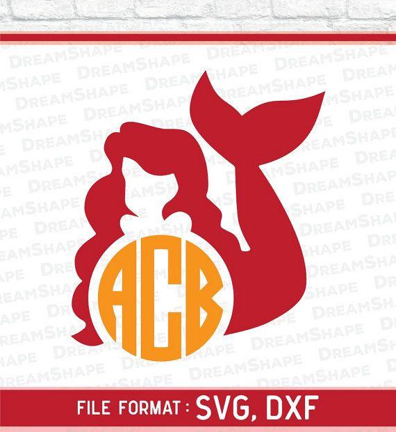 Mermaid SVG, Fish Monogram Mermaids SVG, Mermaid Svg Files, Mermaid Cut File, Mermaids SVG Files, for Vinyl Cutters Machine Instant Download