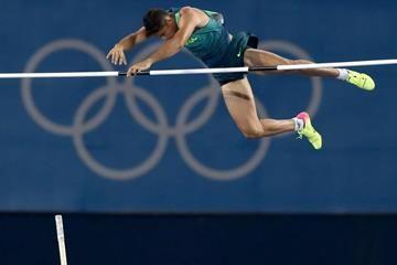 Thiago Braz da Silva in the pole vault at the Rio 2016 Olympic Games