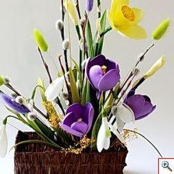 Цветок крокуса из фоамирана своими руками