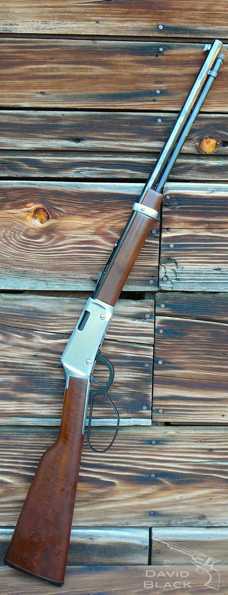 Lever Action Rifle - Henry Frontier, octagonal barrel and large lever loop. Custom coloring. Great 22 very accurate and fun to shoot.