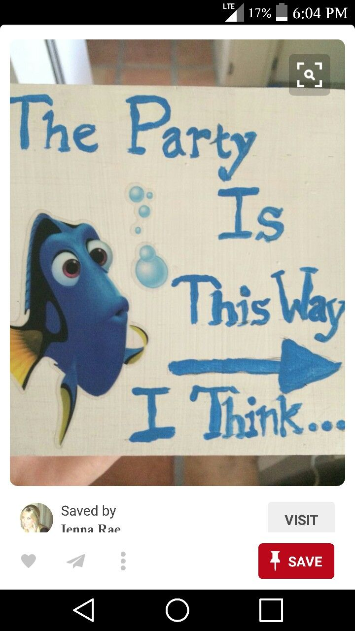 Dory game... Hide blue easter egg with construction paper like fin and eye ...have a finding dory hunt