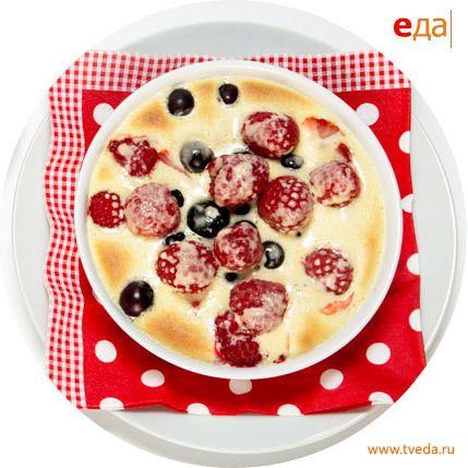 Запеченный сабайон со свежими ягодами от Дениса Дмитровского