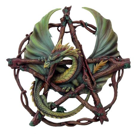 Will be available soon   Anne Stokes - Dragon on pentagram