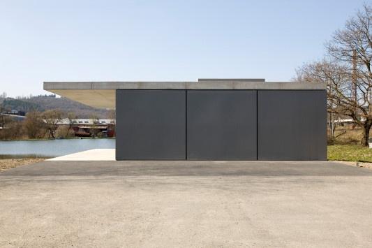 Garage Beton Modern Sichtbeton Hausbau Betomauer Beton