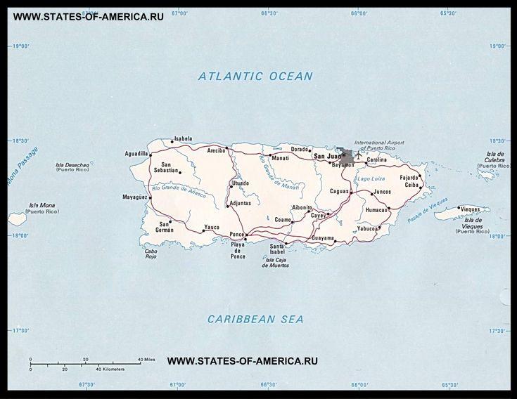 Карта дорог Пуэрто-Рико