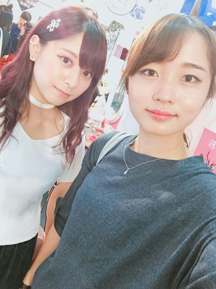 園田夏希(左)