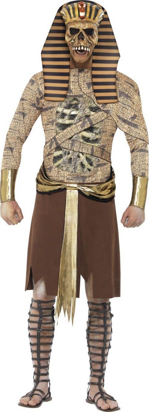 Costume da faraone zombie per uomo - Halloween: questo faraone sembra uscire direttamente dall'oltretomba per terrorizzare tutti i tuoi amici la notte del 31 Ottobre!