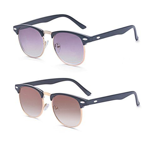 c93d7c59570a Outray 2 Pack Reading Glasses Vintage Horn Rimmed Half Frame Style for Men  and Women