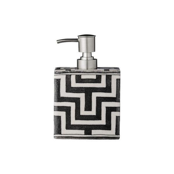 Day Birger Et Mikkelsen Tile Pattern Handpainted Soap Dispenser ($120) ❤ liked on Polyvore featuring home, bed & bath, bath, bath accessories, day birger et mikkelsen and contemporary bathroom accessories