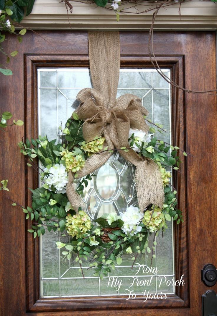 165 best front door decorations images on pinterest for Home door decoration ideas