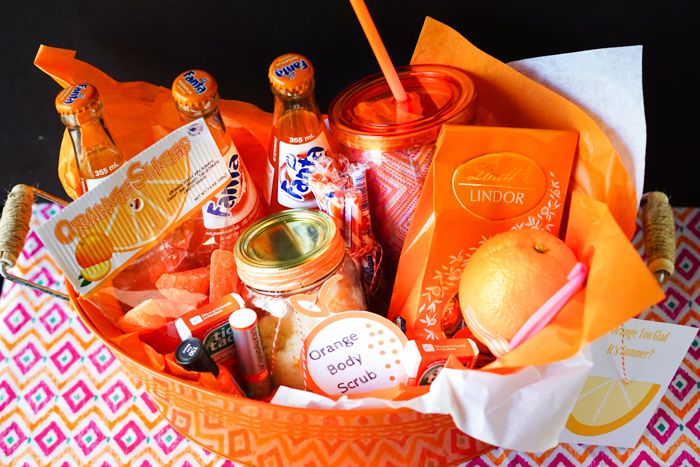 DIY Teacher Gift: Orange You Glad It's Summer