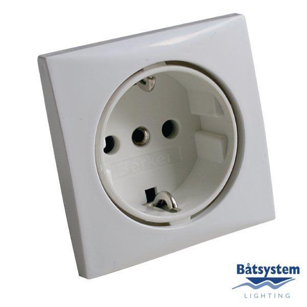 Розетка сетевая Batsystem B5919V 230 В 16 А 60 x 60 мм белая  - Артикул: 9514003257;  - Производитель: Batsystem;  - Страна произв-ва: Швеция