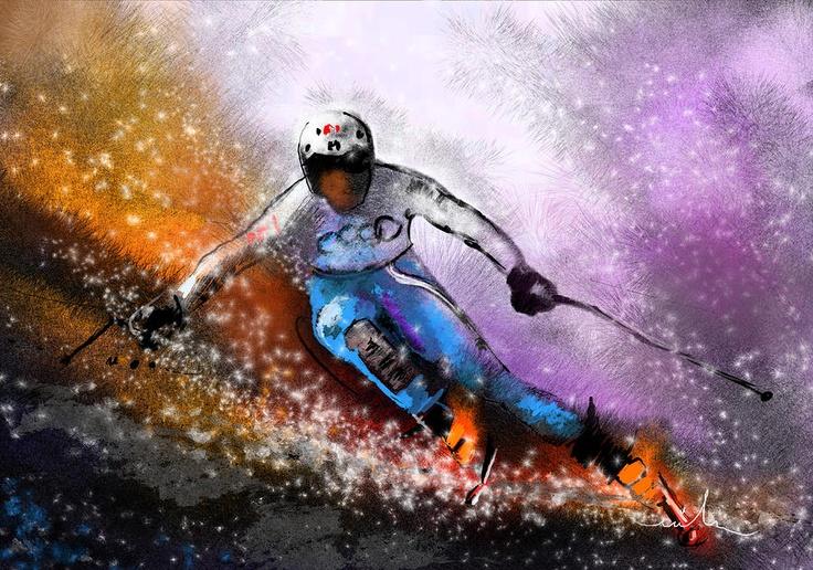 Home/ Miki De Goodaboom - Sport Art/ #10 of 120 /Previous/  Skiscape