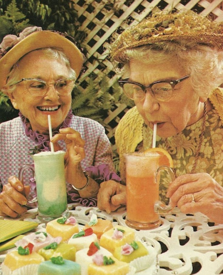 No matter how old we are, let's always make time to enjoy our dranks. K? K.