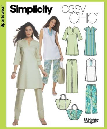 Simplicity 5069.  I think I want to make an Indian kurta (tunic top).