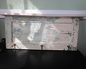 Architectural Salvage Coat Hanger Plate Rack and Wall Shelf