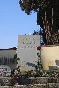 Oriana Fallaci (1929 - 2006)  Cimitero degli Allori, Florence, Italy - resting place of Oriana Fallaci