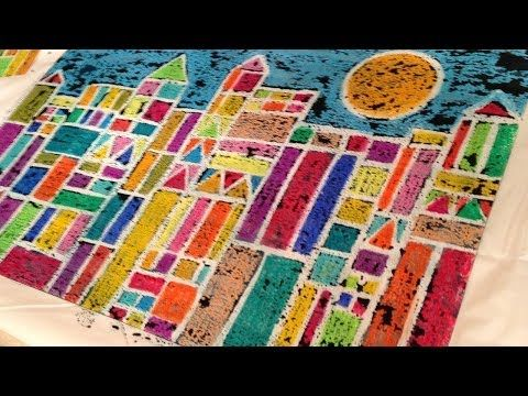 Cray-Pas Art in the Classroom: Paul Klee Inspired Cityscape - YouTube