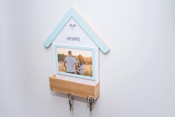 Hand Painted Wall Mounted Mailbox With Paper Holder Hooks