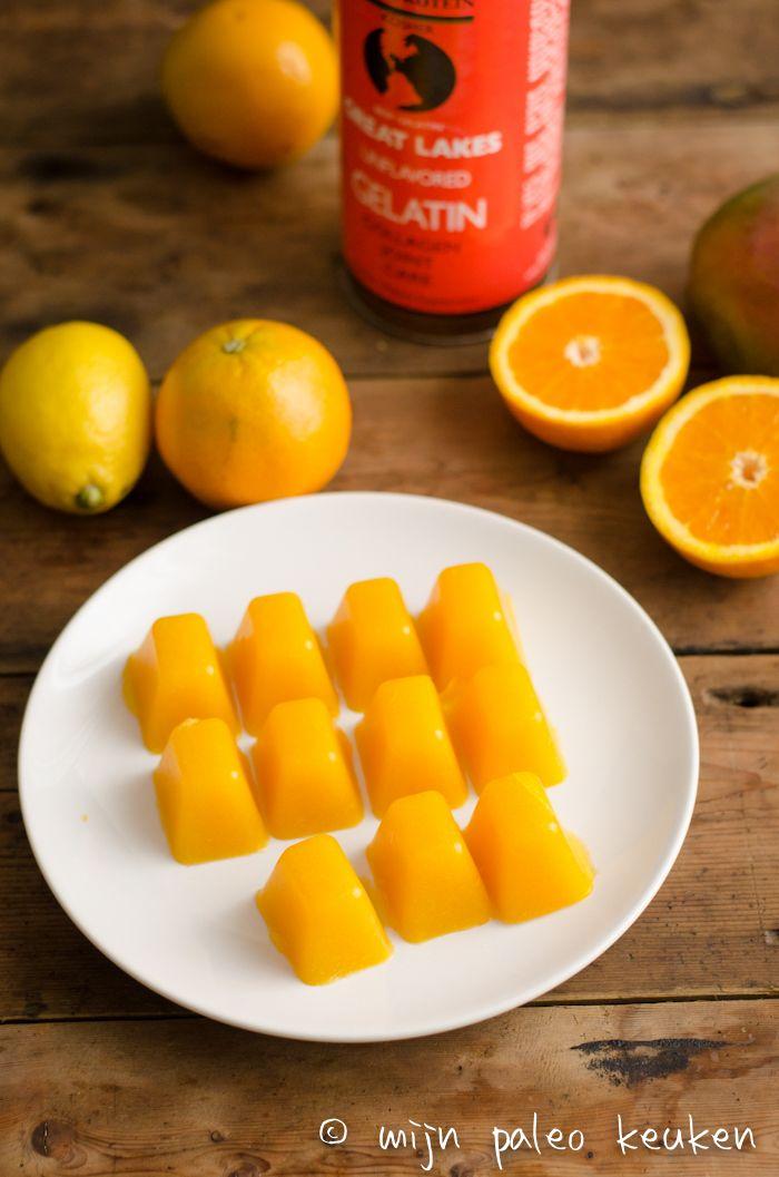 Fruitige oranje paleo snoepjes - Mijn Paleo Keuken