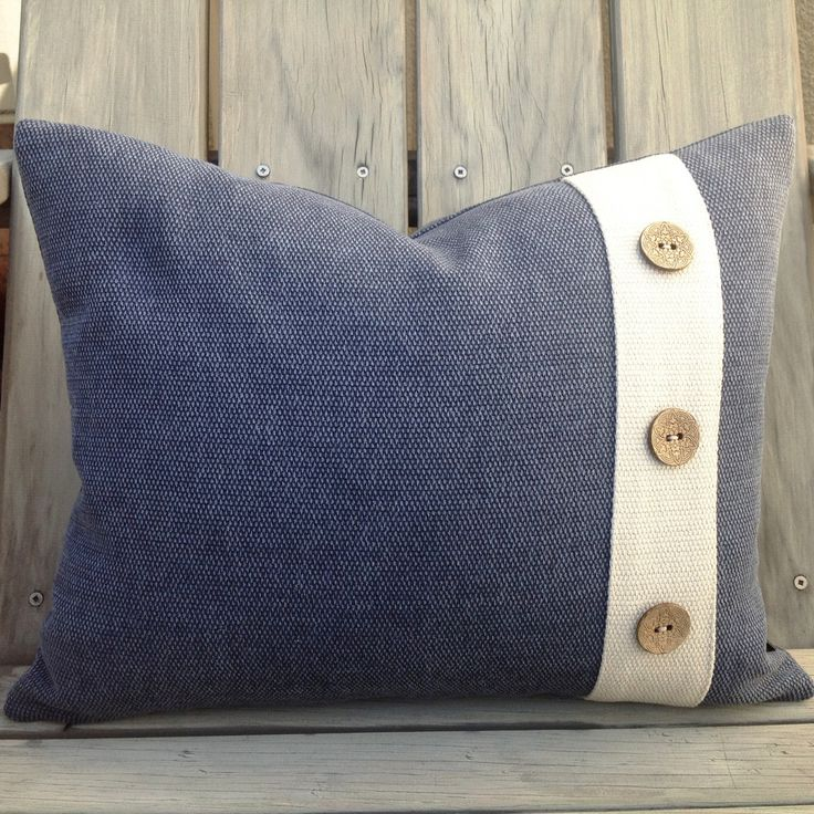 Denim Blue Button Cushion – Homestead Range