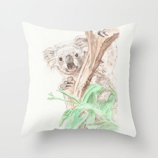 Koala Peek-a-Boo. watercolor painting print. #Koala #marsupial #Australia #watercolor #painting #cute #animal